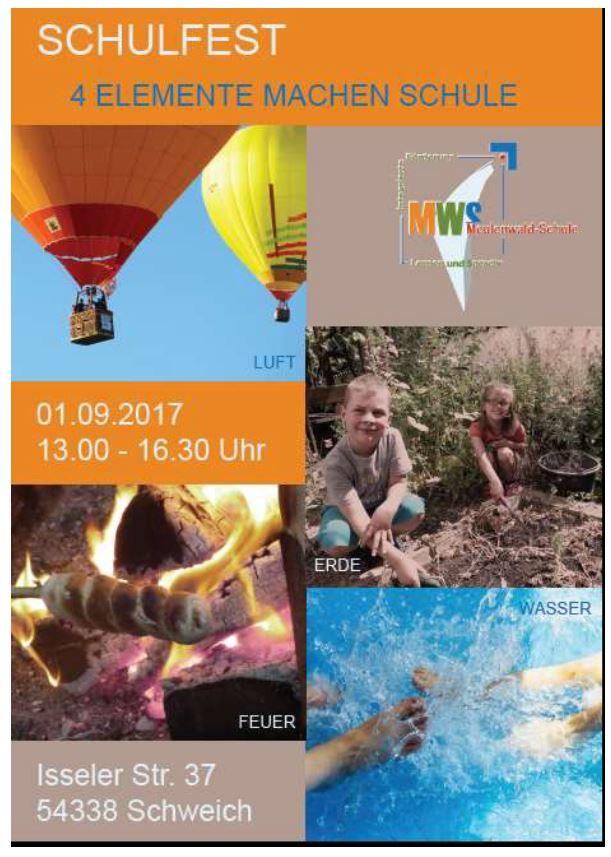 Schulfest Plakat 1